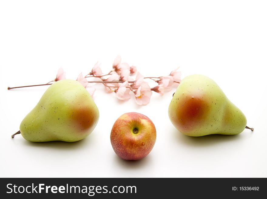 Nectarine and pears