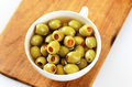 Free Green Olives Stuffed With Pimento Stock Photography - 15345242