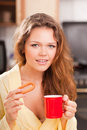 Free Happy Woman In The Kitchen Royalty Free Stock Photo - 15345825