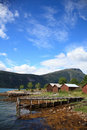 Free Old Wooden Pier And The Boathouses Stock Photos - 15347353
