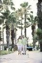 Free Happy Seniors Couple  On Beach Royalty Free Stock Photo - 15348365