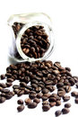 Free Coffee Beans On A White Background Royalty Free Stock Photo - 15349595