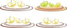 Free Stilyzed Vector Apple Clove Royalty Free Stock Photos - 15340288