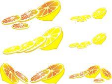 Free Stilyzed Vector Lemone Clove Royalty Free Stock Photography - 15340467