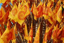 Free Buddhist Flags Royalty Free Stock Photography - 15340497