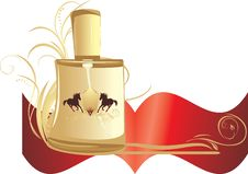 Free Perfume For Men With Decorative Ornament. Banner Royalty Free Stock Photography - 15340987
