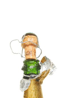 Chapagne Bottle And Cork Stock Image