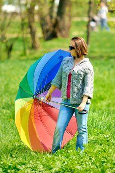 Free Beautiful Woman With Umbrella Royalty Free Stock Photo - 15341165