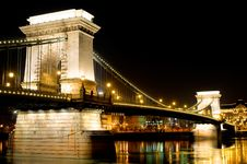 Free Chain Bridge In Budapest, Hungary Stock Photography - 15341222
