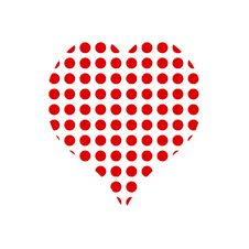 Free Red Dots Heart Royalty Free Stock Images - 15341309