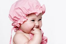 Free Little Girl A On White Background Royalty Free Stock Photography - 15341747