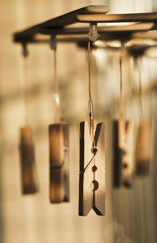 Free Bamboo Clothing-peg Stock Photography - 15342062