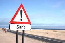 Free Sand Warning Sign Stock Photos - 15342263