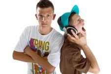 Free Young Fresh Teenage Djs Stock Image - 15342741