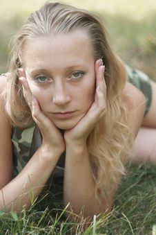 Free Pretty Blonde In Field Stock Photography - 15343122
