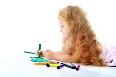 Free Drawing Girl Royalty Free Stock Images - 15343599