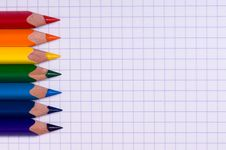 Free Multicolor Pencils On Paper Royalty Free Stock Photos - 15343728