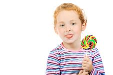 Free Girl With Lollipop Royalty Free Stock Images - 15343779