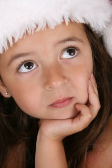 Free Christmas Girl Royalty Free Stock Photo - 15344035