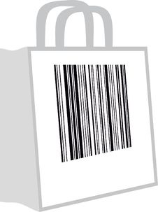 Free Bag With A Barcode Royalty Free Stock Photography - 15345447