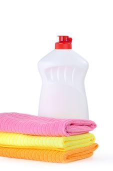 Detergent For Cleaning Cloths Colored Royalty Free Stock Image
