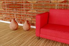 Detail Illustration Of A Sofa Stock Photo