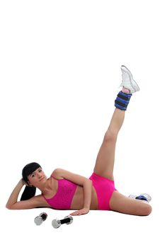 Free Girl Doing Exercises Stock Image - 15346501