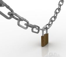 Free Locked Chain With Padlock Stock Photos - 15348083