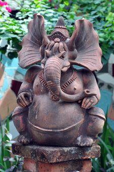 Free Hindu Elephant Ganesha Statue Stock Images - 15348324