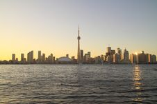 Free Toronto Cityscape From Central Island Royalty Free Stock Photo - 15348345