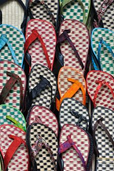 Free Slipper In Colors Royalty Free Stock Photos - 15348718