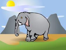 Free Gray  Elephant Stock Image - 15349421