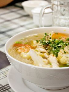 Free Chicken Noodle Soup Stock Photos - 15349713