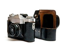 Camera And Bag Stock Photography