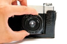 Free Camera And Man Hand Royalty Free Stock Images - 15349889