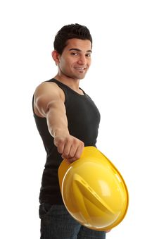 Free Friendly Cosntruction Worker Builder Stock Photography - 15349922
