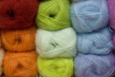 Balls Of Colored Yarn. Royalty Free Stock Images
