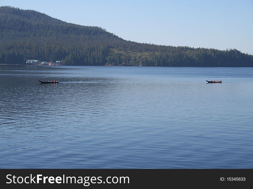 First Nation Canoes in Canada