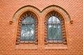 Free Red Bricks Church Ornamental Windows Stock Image - 15351181
