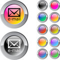 Free E-mail Multicolor Round Button. Stock Photos - 15351213