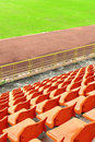 Free Orange Seat In Arena Royalty Free Stock Image - 15354186