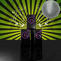 Free Floral Disco Speaker Royalty Free Stock Photo - 15354805