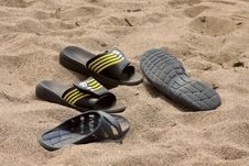 Free Beach Footwear Royalty Free Stock Photo - 15350045