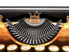 Free Detail Of Mechanical Typewriter Royalty Free Stock Image - 15350156