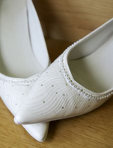 Free White Shoes For Wedding Stock Photo - 15350660