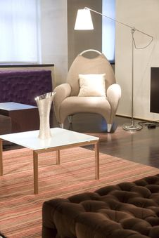 Free Chair And Coffee Table Royalty Free Stock Image - 15351416