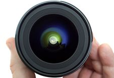 Free Lens In A Man S Hand Stock Photos - 15351633