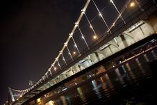 Free Night Bridge Royalty Free Stock Image - 15351646