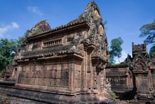 Free Banteay Srei Temple Royalty Free Stock Image - 15351786