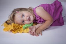 Free Kid On A Pillow Royalty Free Stock Image - 15351806